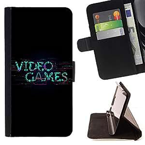 BullDog Case - FOR/HTC One M9 / - / cool video game gamer nerd player art /- Monedero de cuero de la PU Llevar cubierta de la caja con el ID Credit Card Slots Flip funda de cuer