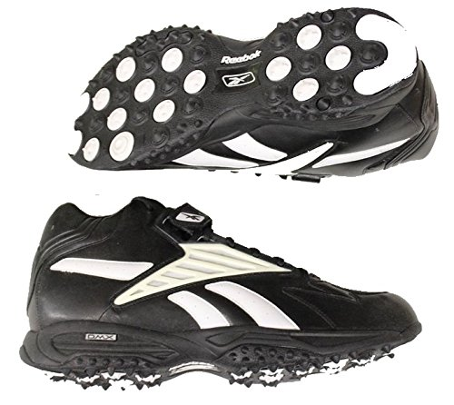 fdc8302aef736f Reebok Mid Turf Mens Football Shoes Black White Size 16.0