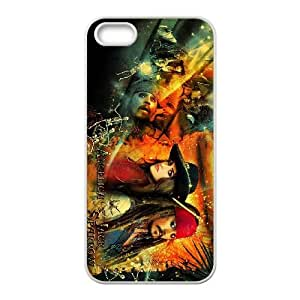 iPhone 5 5s Cell Phone Case White Pirates of the Caribbean Phone Case Cover DIY Back CZOIEQWMXN24793