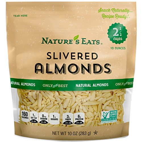 Natures Eats Blanched Slivered Almonds, 10 Ounce