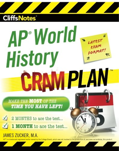CliffsNotes AP World History Cram Plan cover