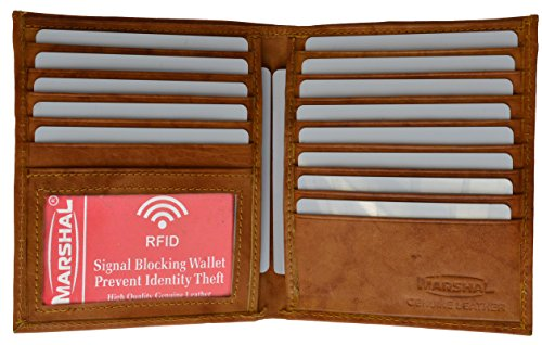 RFID Blocking Bifold Hipster Credit Card Wallet Premium Lambskin Leather (Hipster Credit Card Wallet)