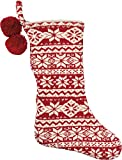 Primitives By Kathy 18 Inches x 11 Inches Cotton Nordic Christmas Stocking Home Decor