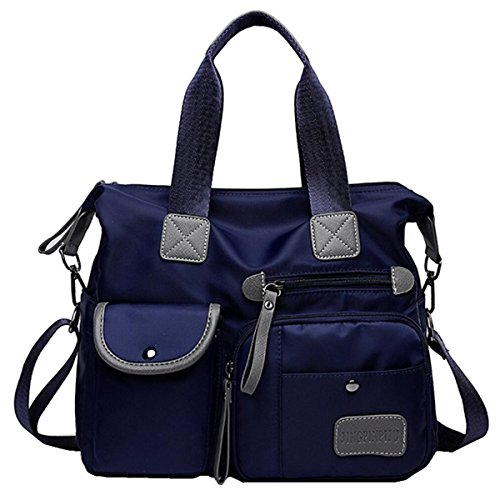 YouNuo Women's Top Handle Handbag Nylon Laptop Crossbody Bag Water Resistant Tote Shoulder Bags