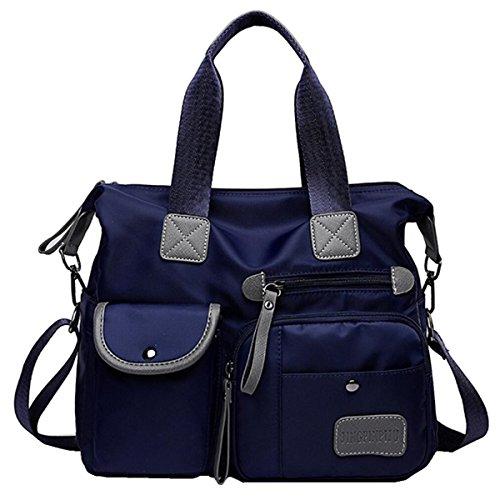 YouNuo Women's Top Handle Handbag Nylon Laptop Crossbody Bag Water Resistant Tote Shoulder (Nylon Computer Tote Bag)