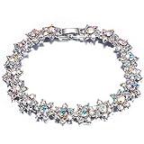 QIANSE ''Princess Charlotte Austrian Crystals Tennis Bracelet Fashion Jewelry for Women Bracelet for Women Birthday Gifts for Girls Girlfriend Daughter