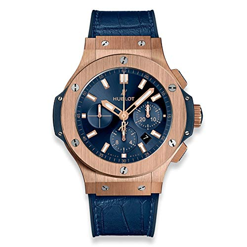 Hublot Big Bang 44mm Rose Gold Blue Watch 301.PX.7180.LR (Hublot Big Bang Ayrton Senna All Black)