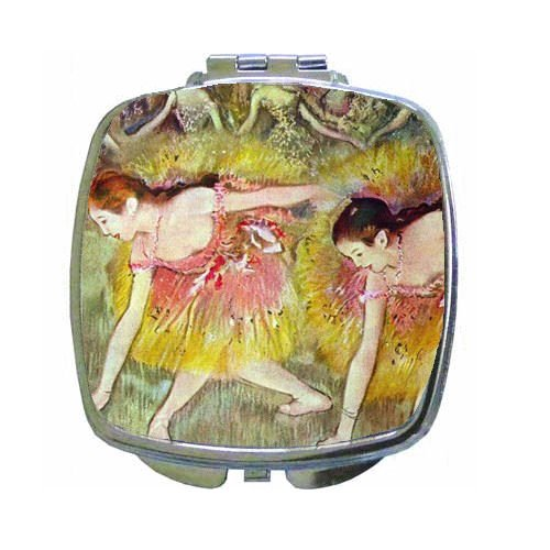 Ballet Dancers By Edgar Degas Compact Mirror