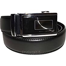 Men's Leather Belt, Genuine leather Black belt, Men's Quick lock belt, # MLB6513 (24)