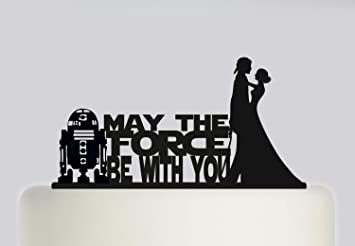 Wedding Cake Topper Star Wars May The Force Be With You