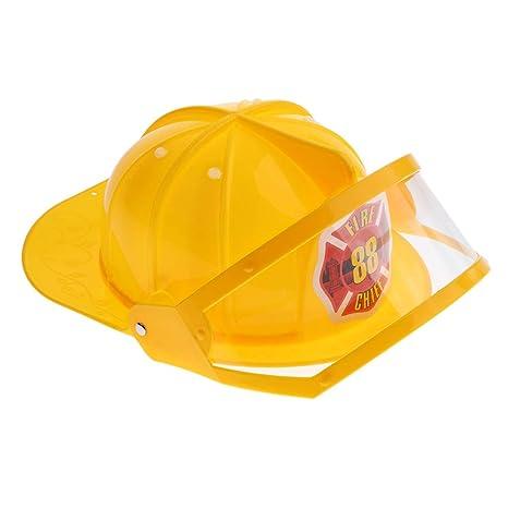 D DOLITY Casco De Seguridad De Simulación Fire Equipos Eléctricos Trabajo Exterior Internet Viaje Amarillo