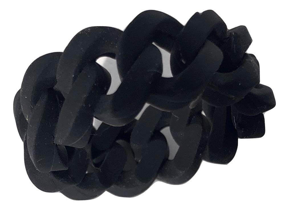 Tekoa Unique Unisex Silicone Chain-Style Wedding Band - Bold - Weightless - Statement Ring - (Size 12)