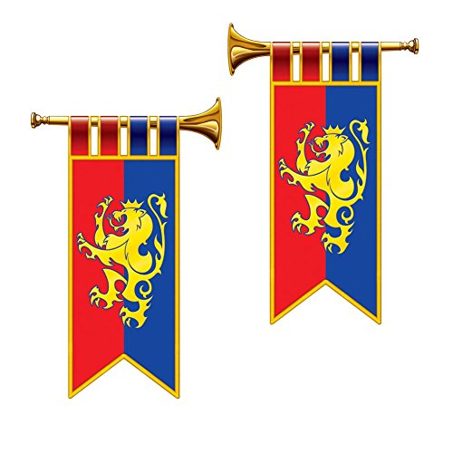 Royal Trumpet Banner Cutouts (Medieval Party Decorations)