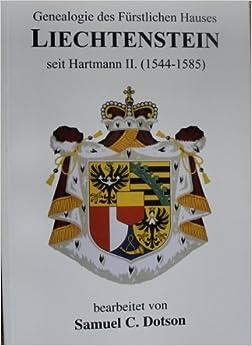 Book Genealogie DES Furstlichen Hauses Liechtenstein Seit Hartmann II