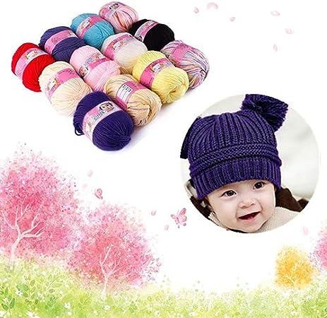 Geshiglobal matassa di filato morbido e confortevole per bambini di alta qualit/à Azzurro.