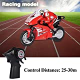 Kids RC Motorcycle RC Off-road Racing Motor Bike with USB Cable(Red)