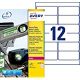Avery 240 Etiquettes Autocollantes Ultra-Résistantes - 99,1x42,3mm - Impression Laser - Blanc (L4776)