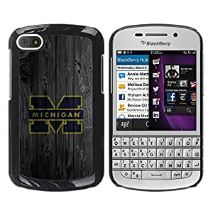 Impact Case Cover with Art Pattern Designs FOR BlackBerry Q10 Machine M Football Betty shop
