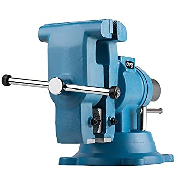 Image of Capri Tools 10519 Rotating Base and Head Bench Vise, 6' Home Improvements