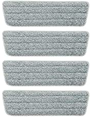 4 PCS Mop Pads Wet Dry Microfiber Mop Cleaning Pad Mop Refills Replacement Heads for Most Spray Mops and Reveal Mops Mop Replacement Cloth