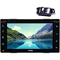 Rearview Camera include Android Car DVD Player with Quad-core 6.0 OS Stereo system In Dash HD 1024600 6.2inch Screen Radio Stereo with GPS Navigation Bluetooth Wifi USB/SD FM AM RDS Radio