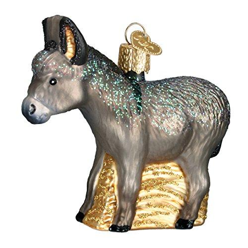 Donkey Ornaments - Old World Christmas Ornaments: Donkey Glass Blown Ornaments for Christmas Tree