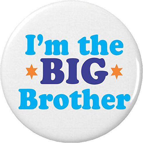"""Sibling Button (I'm the BIG Brother 2.25"""" Large Pinback Button Pin Sibling Family)"""