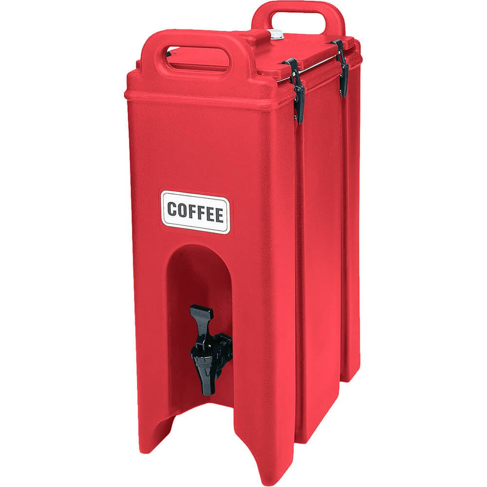Cambro (500LCD158) 4-3/4 gal Beverage CarrierCamtainerつ by Cambro B004VEOL60 ホットレッド ホットレッド