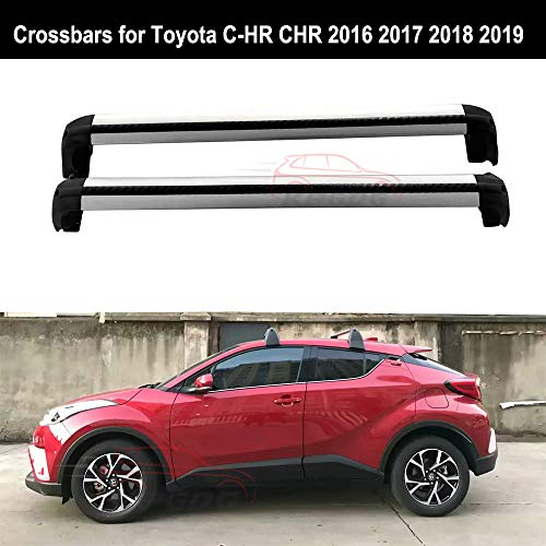 Chr Bar (KPGDG Crossbars Fit for Toyota C-HR CHR 2016 2017 2018 2019 Baggage Roof Rack Rail Cross Bar)