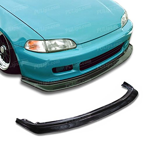 PULIps HDCV922DPFAD - Splitter Style Front Bumper Lip For Honda Civic 1992-1995 Coupe; - Coupe Honda 1993 Civic