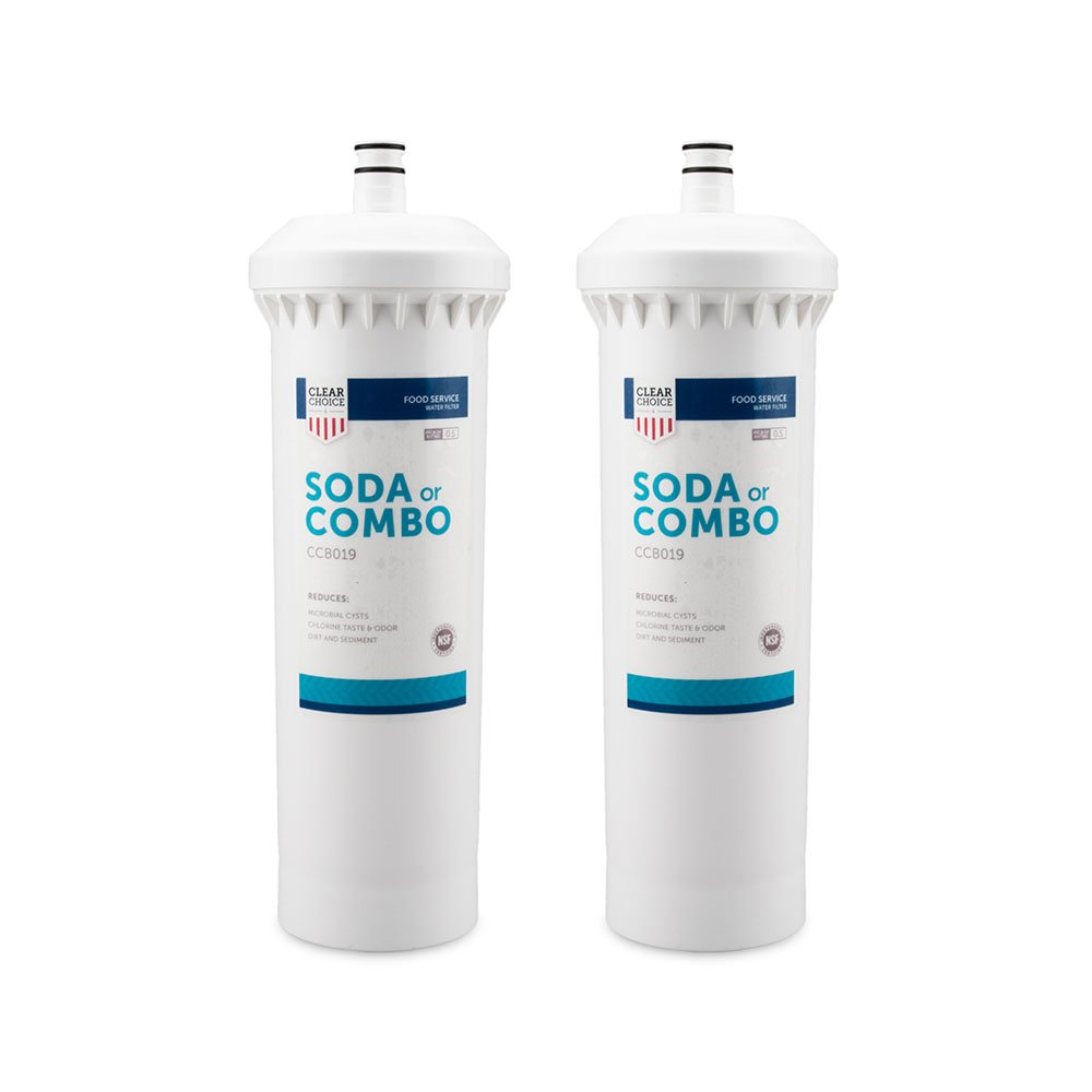 Clear Choice Soda Fountain Filtration System Replacement Cartridge for CUNO 55817-05 CFS8112 Also Compatible with Everpure EFS8002 EV9781-10, BevGuard BCG-2200, Nu Calgon 4622-20, 2-Pack