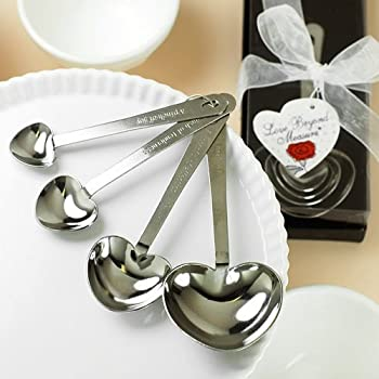 Amazoncom Heart Shaped Measuring Spoons Home Kitchen