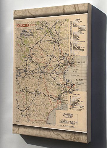 - Canvas 16x24; Area 'K' Administrative Map Devon, England Operation Overlord