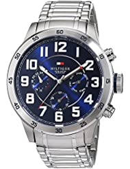 Tommy Hilfiger Mens 1791053 Stainless Steel Watch with Link Bracelet