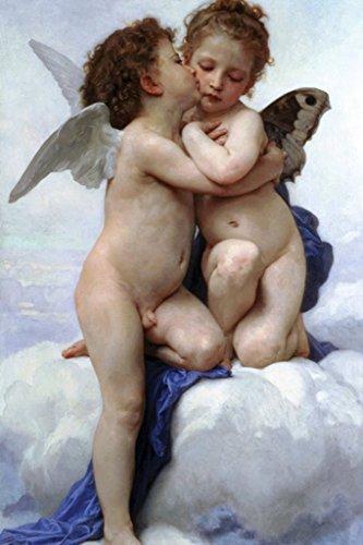 (ArtParisienne L'Amour et Psyché, Enfants Cupid and Psyche William-Adolphe Bouguereau 20x30 Poster Semi-Gloss Heavy Stock Paper Print)