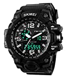 Super Cool Outdoor Sports Led Digital Watch S SHOCK Men Military Army Watch 164FT 50M Water Resistant (Black)