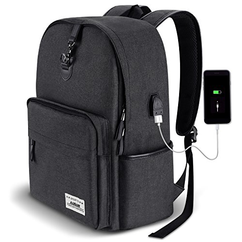 e187afa8c7 AUGUR Anti-theft Backpack Business Backpack School Bookbag with USB  Charging Port