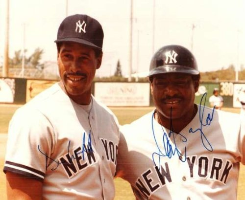 (Autographed Dave Winfield & Don Baylor 8X10 Photo)