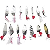Fishing Lure Set - SODIAL(R)30PC Fishing Lures Spinners Hooks Spoons Bass Pike Trout Salmon Baits Tackle SetModel:Style 6