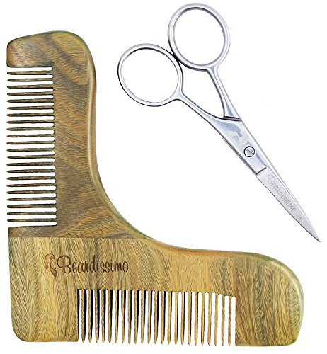 beard-shaping-tool-and-scissors-kit-by-beardissimo-sandalwood-shaper-styling-template-comb-grooming-
