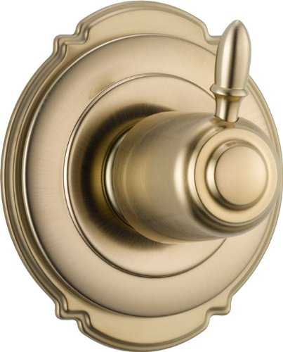 Delta Faucet T11855-CZ Victorian 3 Setting Diverter Trim, Champagne Bronze