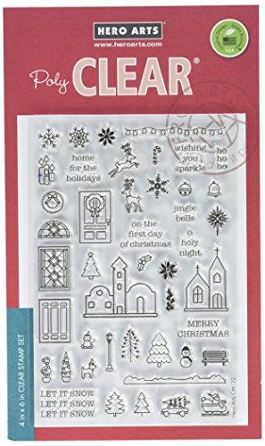 Hero Arts CM122 Mini Christmas Photopolymer (Christmas Acrylic Stamp Set)