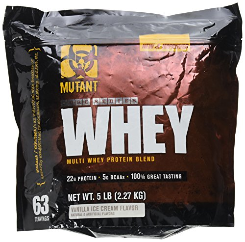 Mutant Whey – Muscle Building Whey Protein Mix with Unbelievable Great Flavors Made with A 100% 4-Whey Protein Formula Plus Enzyme Fortified – Vanilla Ice Cream Flavor For Sale