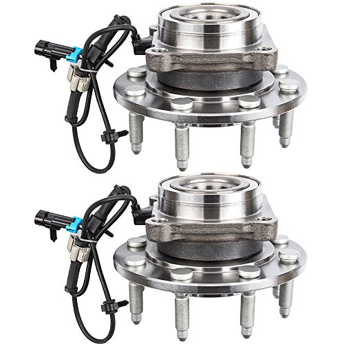 (ECCPP Wheel Bearing Hub 515086 X2 Hub Bearing Assembly Front Axle 8 Lugs W/ABS Sensor for CHEVY TRUCK SILVERADO 2500HD PU, CHEVY TRUCK, SILVERADO 2500HD PU,GMC TRUCK SIERRA 2500HD PICKUP)