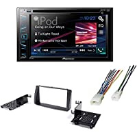 Double Din DVD/ CD Bluetooth Car Stereo Radio Receiver Dash Mounting Install Kit + Harness for Toyota Corolla 2003 - 2008