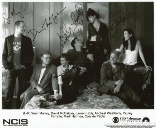 NCIS Full Cast Signed Laughing CBS Paramount Studio Reprint 8 x 10 Photo ncis44
