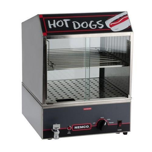 Nemco (8300-220) 14'' Hot Dog Steamer w/ Low Water Indicator by Nemco