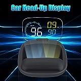 DishyKooker C600 Hud Head-Up Display Digital Car Speed Projector On-Board Computer Fuel Mileage Warning Device
