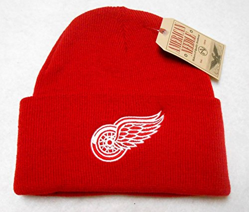 - American Needle NHL Detroit Red Wings Basic Knit Beanie Hat
