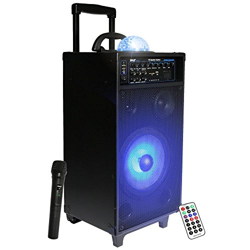Pyle PA Speaker System, Portable Loudspeaker, DJ Speakers, R